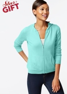 Charter Club Petite Cashmere Zip-Front Hoodie