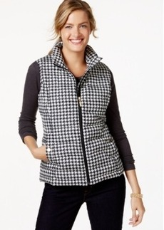 Charter Club Quilted Checkered Vest, Only at Macy's