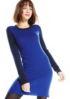Charter Club Petite Colorblock Cashmere Sweater Dress