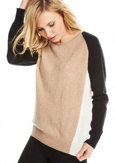 Charter Club Petite Colorblocked Cashmere Sweater
