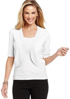 Charter Club Petite Elbow-Sleeve Bolero Sweater
