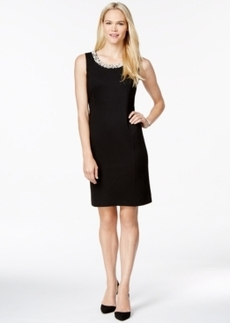 Charter Club Embellished Sleeveless Shift Dress, Only at Macy's