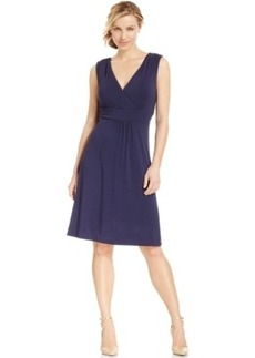 Charter Club Petite Empire-Waist Surplice Dress