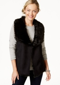 Charter Club Petite Faux-Fur Vest, Only at Macy's