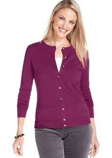 Charter Club Petite Fine-Gauge Cardigan Sweater