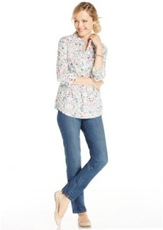 Charter Club Petite Floral Button-Down Shirt