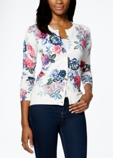 Charter Club Petite Floral-Print Cardigan, Only at Macy's