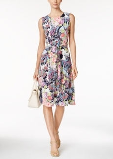 Charter Club Petite Floral-Print Midi Dress, Only at Macy's