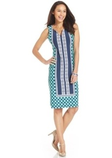Charter Club Geo-Print Sheath Dress