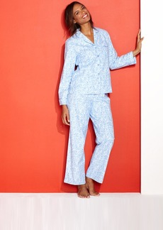 Charter Club Petite Holiday Lane Flannel Notch Collar Top and Pajama Pants Set