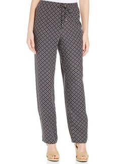 Charter Club Petite Iconic-Print Drawstring Pants