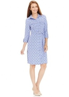 Charter Club Petite Iconic-Print Shirt Dress