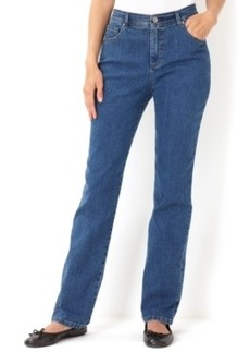 Charter Club Petite Jeans, Tummy Slimming Classic Fit Straight Leg (Antique Indigo)
