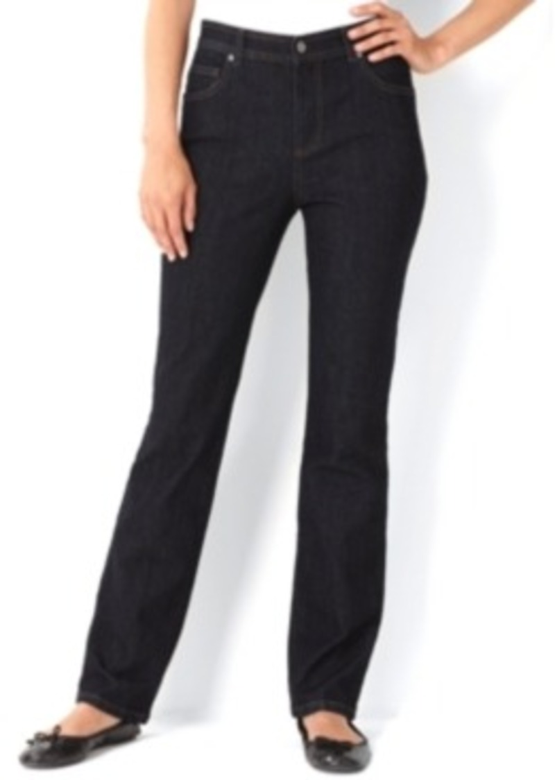 Charter Club Petite Jeans, Tummy-Slimming Classic-Fit Straight-Leg, Dark Rinse Wash