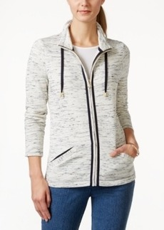 Charter Club Long-Sleeve Front-Zip Jacket, Only at Macy's