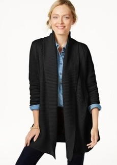 Charter Club Petite Long-Sleeve Textured Cardigan, Only at Macy's
