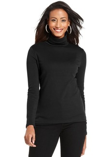 Charter Club Petite Long-Sleeve Turtleneck Top