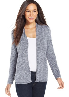 Charter Club Petite Marled-Knit Open-Front Cardigan