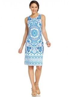 Charter Club Medallion-Print Shift Dress