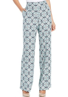 Charter Club Petite Medallion Wide-Leg Pull-On Pants