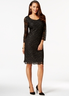 Charter Club 3/4 Sleeve Lace Sheath Dress, Only at Macy's