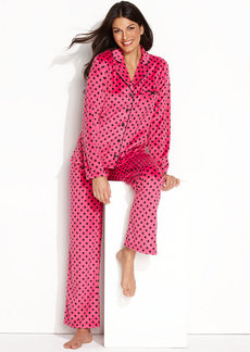 Charter Club Petite Mink Fleece Top and Pajama Pants Set