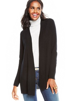 Charter Club Petite Open-Front Cashmere Duster Cardigan
