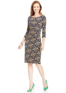 Charter Club Petite Paisley-Print Sheath Dress