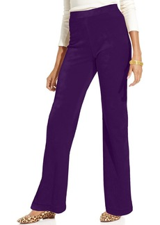 Charter Club Petite Pants, Flare-Leg Velour Pull-On