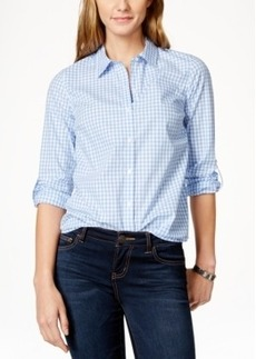 Charter Club Petite Plaid Button-Down Shirt, Only at Macy's