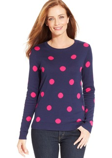 Charter Club Petite Polka-Dot Sweater