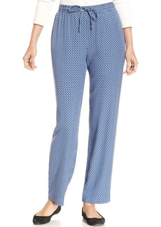 Charter Club Petite Printed Soft Pants