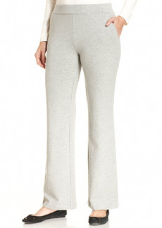 Charter Club Petite Pull-On Straight-Leg Pants