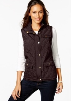 Charter Club Petite Quilted 3-Pocket Vest, Only at Macy's