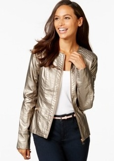 Charter Club Quilted-Panel Moto Jacket, Only at Macy's