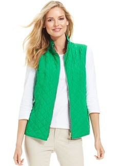 Charter Club Reversible Quilted Zip-Up Vest