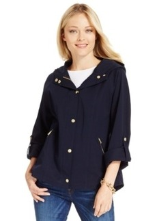 Charter Club Petite Roll-Tab Hooded Anorak Jacket, Only at Macy's