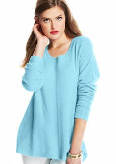 Charter Club Petite Seamed High-Low Hem Cashmere Sweater