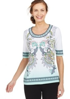 Charter Club Silky Mirrored Paisley Top