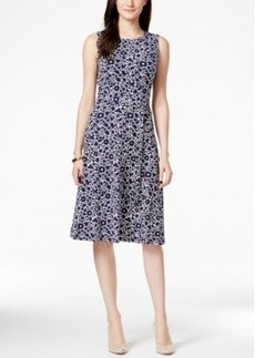 Charter Club Petite Sleeveless Floral-Print Midi Dress, Only at Macy's
