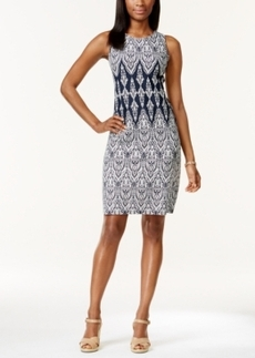 Charter Club Petite Sleeveless Printed Sheath Dress, Only at Macy's