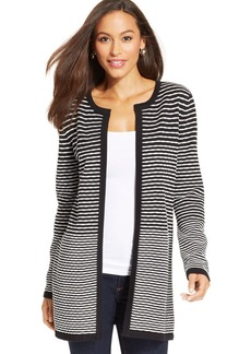 Charter Club Striped Colorblocked Duster Cardigan