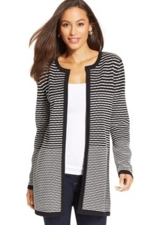 Charter Club Petite Striped Colorblock Duster Cardigan