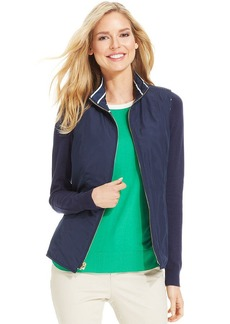 Charter Club Petite Striped Reversible Vest