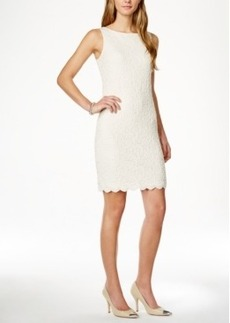 Charter Club Petite Textured Lace Sheath Dress, Only at Macy's