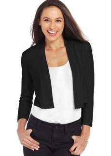 Charter Club Petite Three-Quarter Sleeve Cropped Bolero Cardigan, Only at Macy's