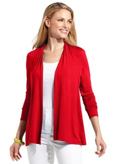 Charter Club Petite Top, Long-Sleeve Cardigan