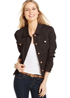 Charter Club Petite Twill Denim Jacket