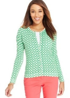 Charter Club Petite Watercolor Iconic-Print Cardigan