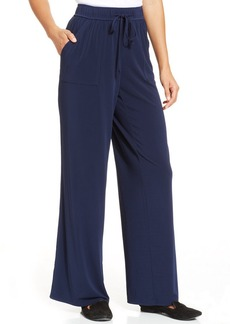 Charter Club Petite Wide-Leg Drawstring Pants